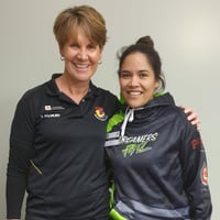 Summer Kerr with Ali Wieringa (Community Netball Manager - Sport Bay of Plenty)
